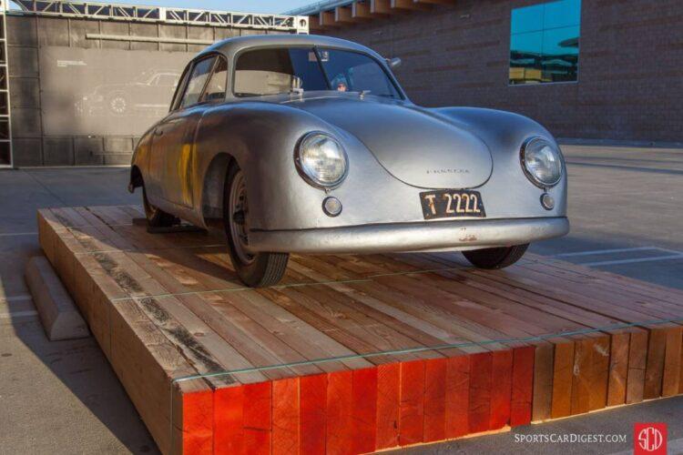 front of Jerry Seinfeld's 1949 Porsche 356/2 Gmünd