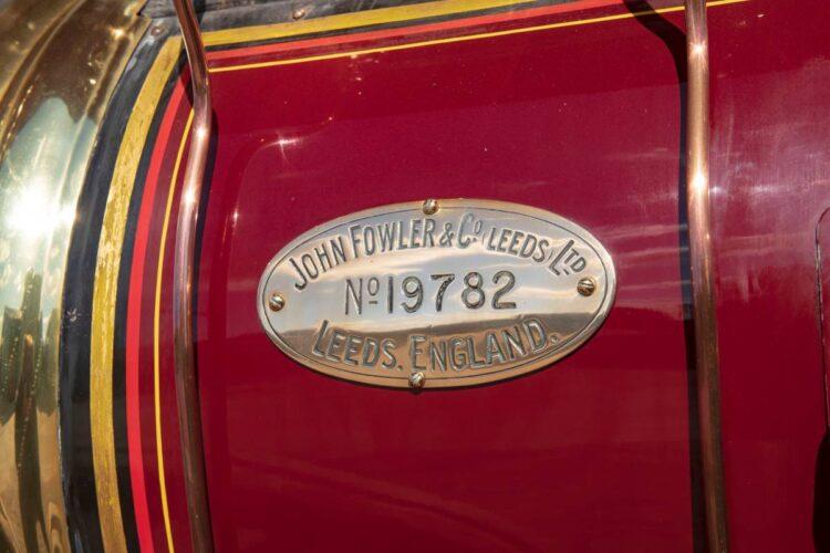 1932 Fowler 10HP B6 Showman's Road Locomotive plaque