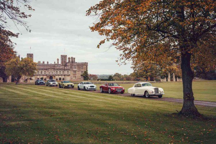cars entering Castle Ashby