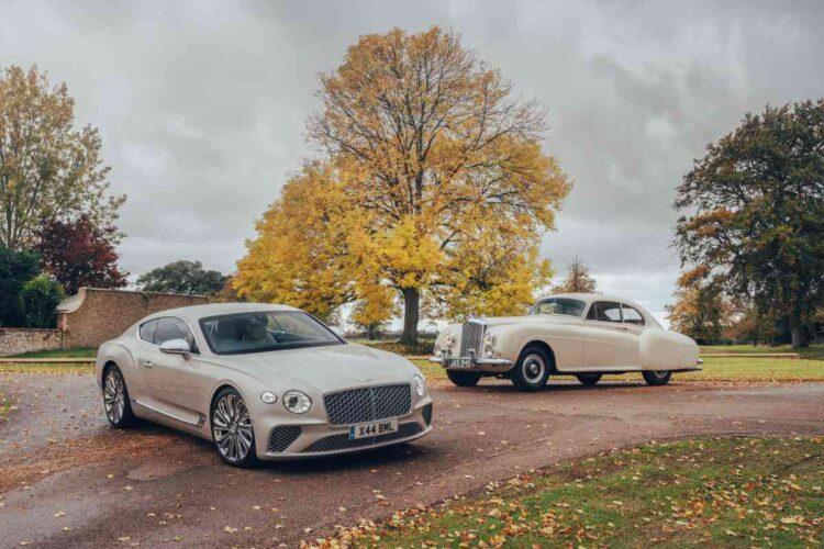 Bentley cars on display