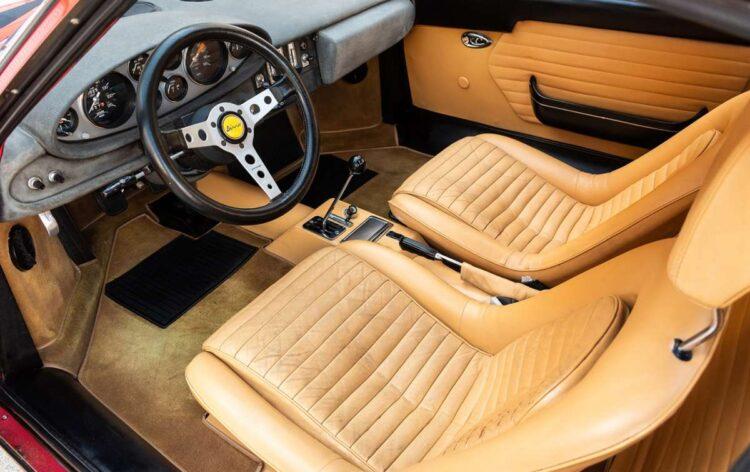 interior of 1972 Ferrari Dino 246 GT