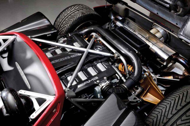 Engine of the Pagani Zonda c12 7.3