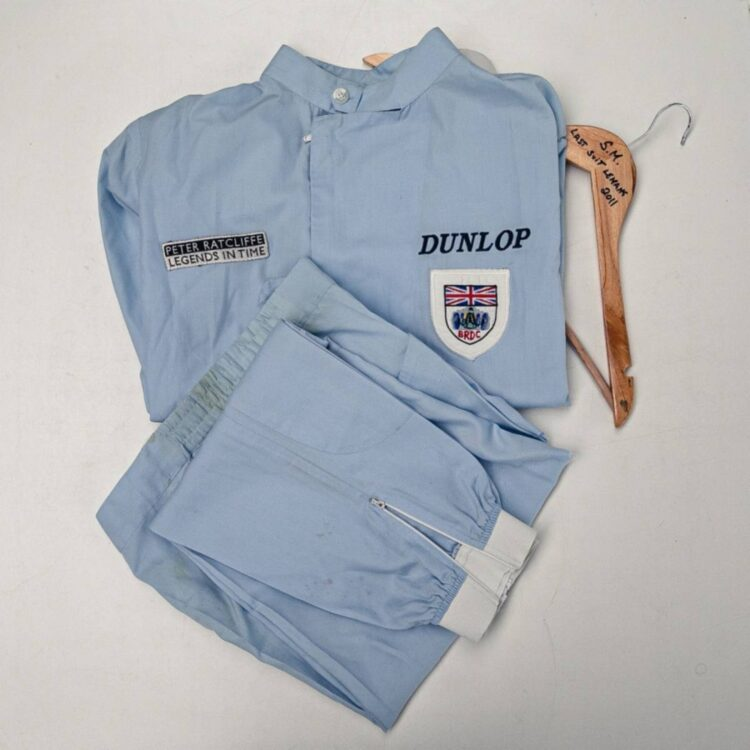 Race suit worn by Stirling Moss on retirement