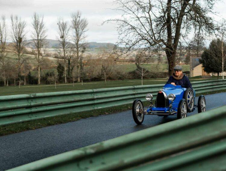 driving the Bugatti Baby II