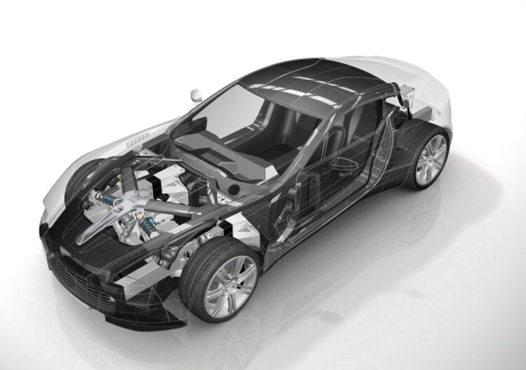 construction of the Aston Martin