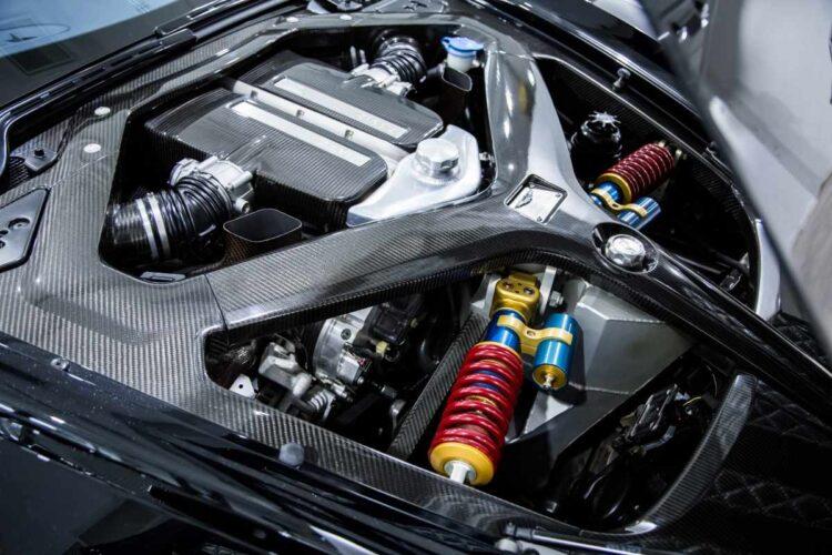 Engine of 2011 Aston Martin One-77