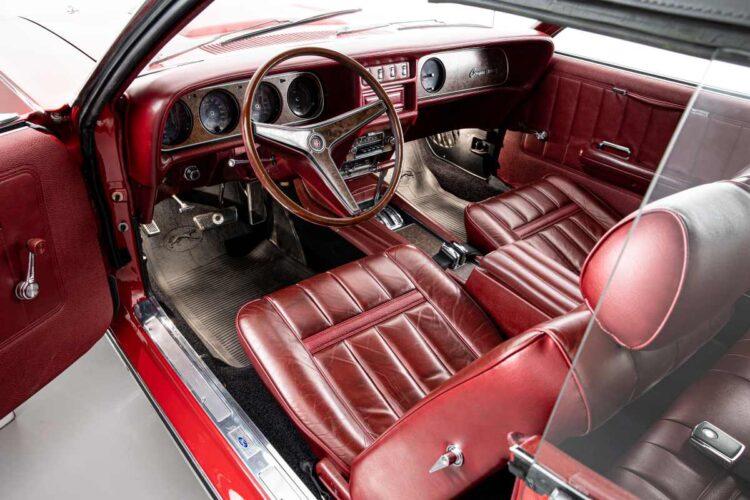 interior of 1969 Mercury Cougar XR7 Convertible