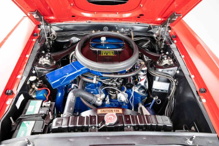 engine of 1969 Mercury Cougar XR7 Convertible