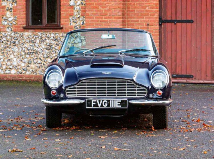 front of 1967 Aston Martin DB6 Vantage Volante Convertible
