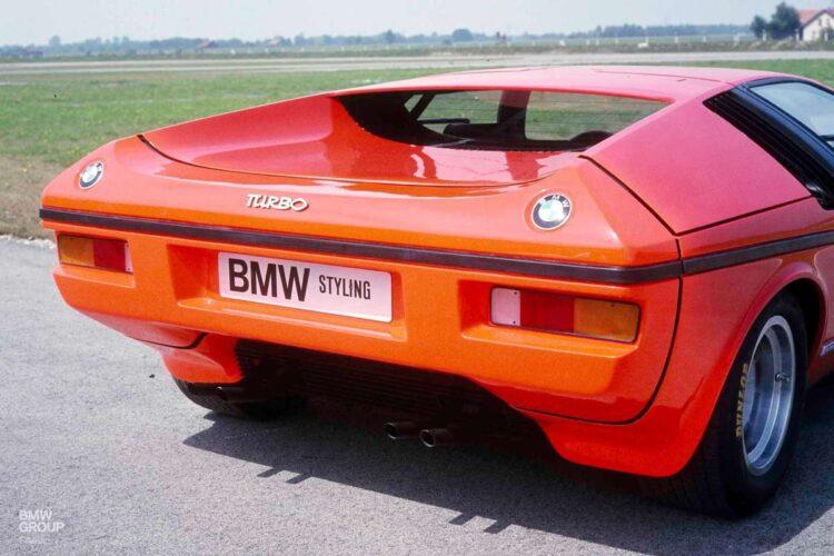 Back of BMW Turbo