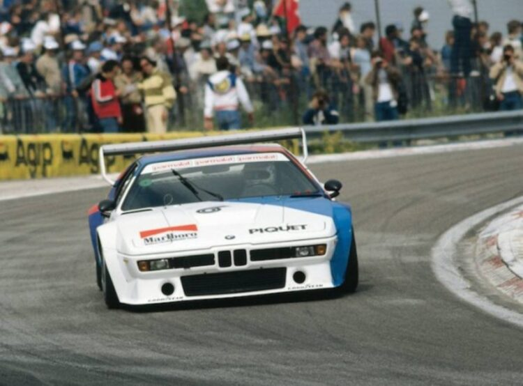 Nelson Piquet victorious in the 1980 BMW M1 Procar championship