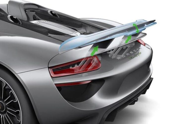 Active Aerodynamics: rear wing position