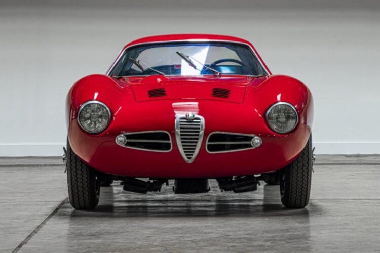 front of 1953 Alfa Romeo 1900 Speciale