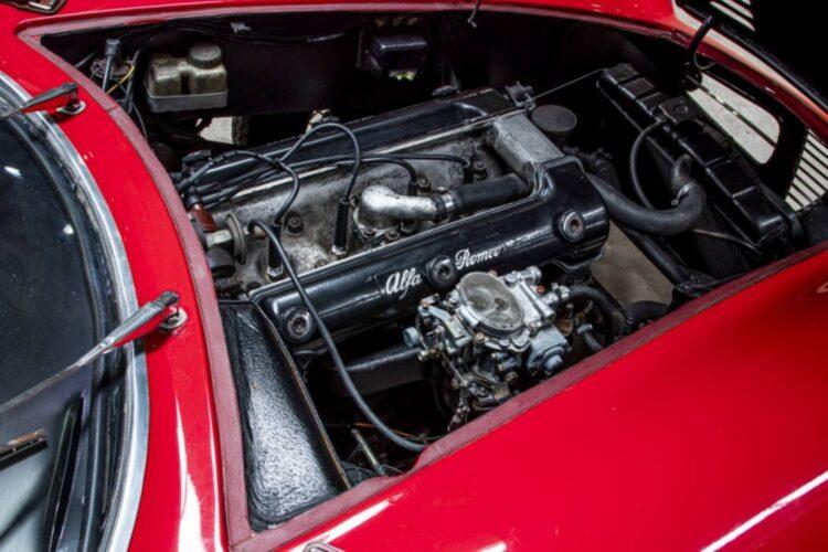 engine of 1953 Alfa Romeo 1900 Speciale