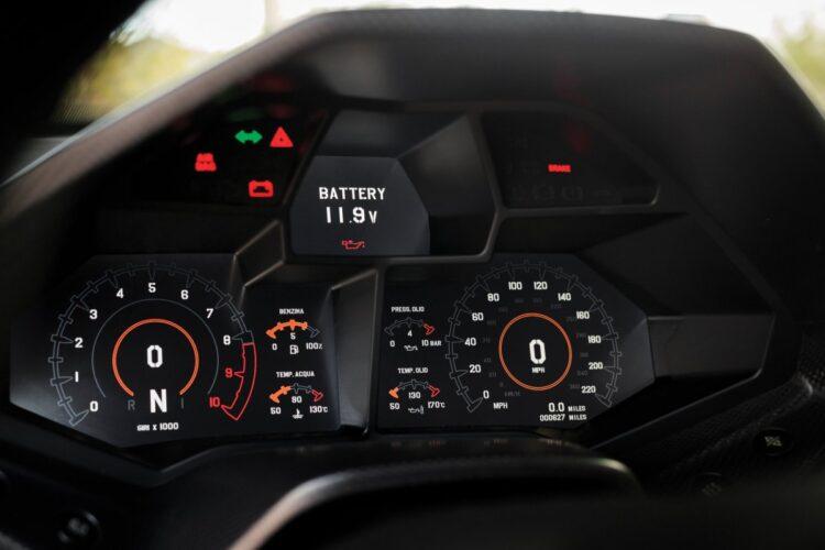 dashboard of Reventon