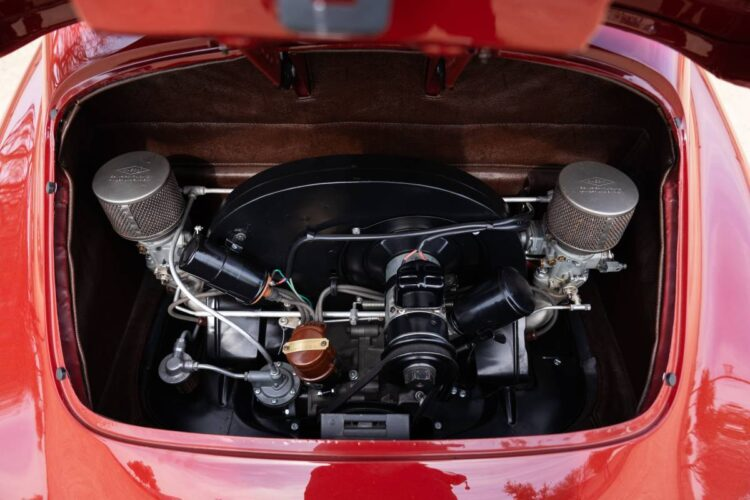 engine of 1951 Porsche 356 Coupe by Reutter
