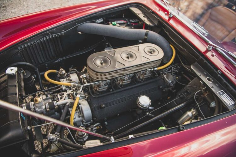 engine of 1956 Ferrari 250 GT Alloy Coupe by Boano