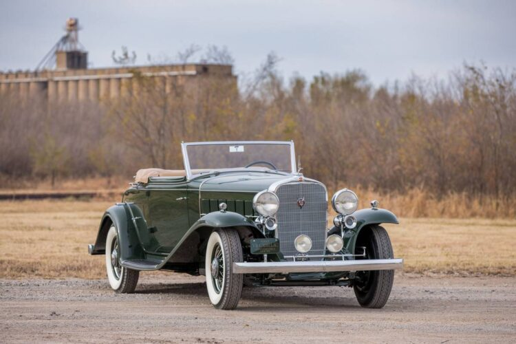 1932 Cadillac V-16 Convertible Coupe by Fisher.
