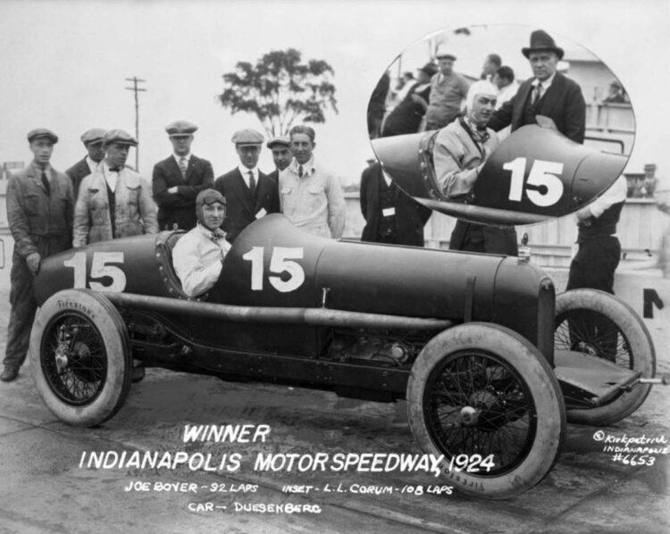Joe Boyer Indy 500 in Duesenberg