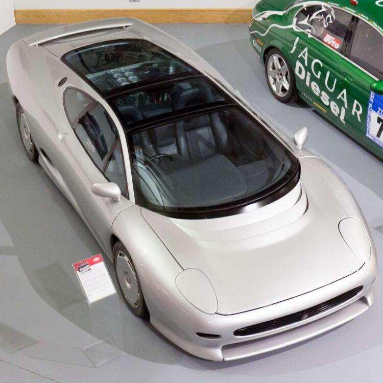 Birdseye view of XJ220 Concept car
