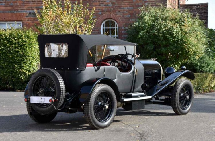 back of 1924 Bentley 3-liter