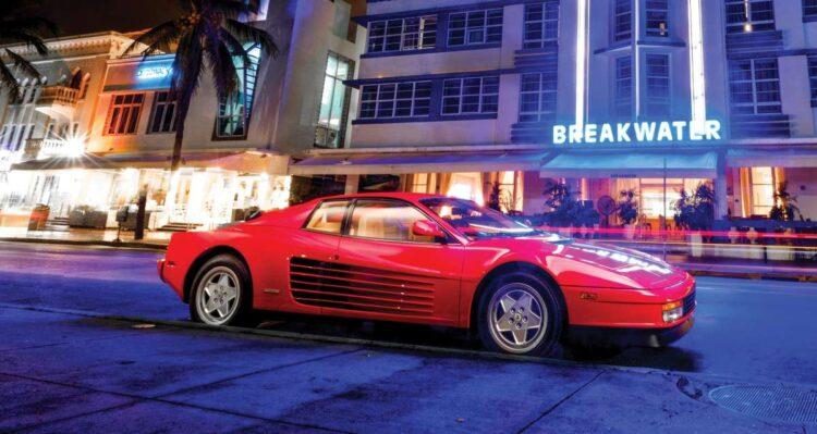 Neon Lights of the Ferrari