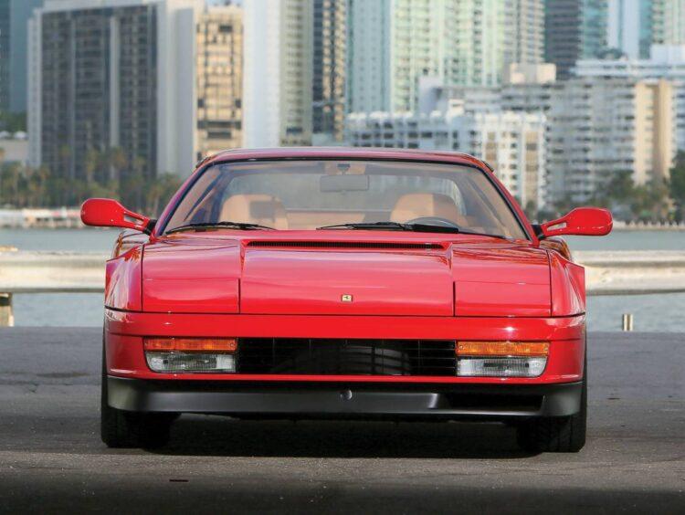 Front of Ferrari Testarossa