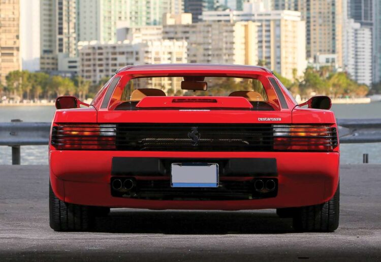 Rear of Ferrari