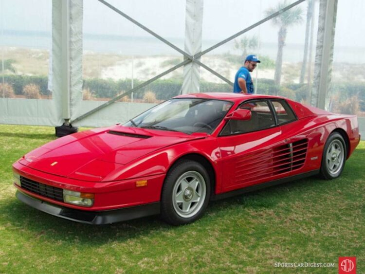 1986 Ferrari Testarossa Coupe with single door mirror