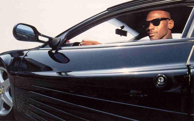 Michael Jordan in Ferrari