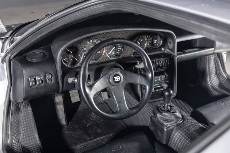interior of Bugatti EB110 Super Sport.