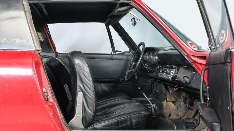 interior of Porsche