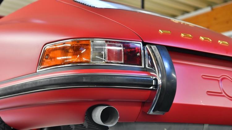 Rear of fully resotored car