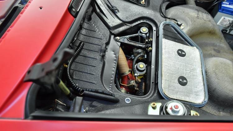 Engine bay of restored 911 S