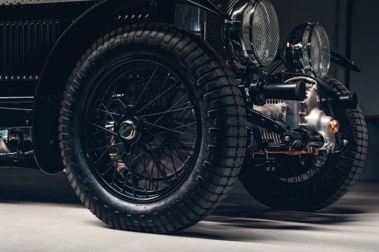 side of car of Bentley Blower
