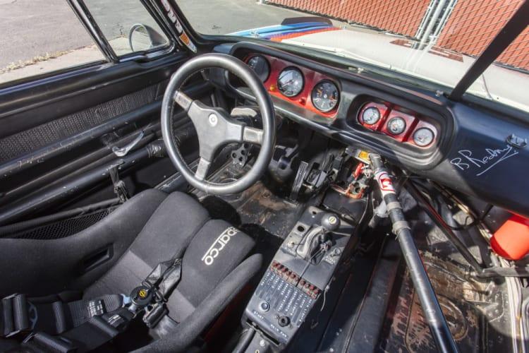 interior of racing bmw