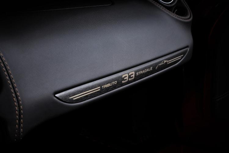 leather interior of alfa romeo 4c Spider 33 Stradale Tributo