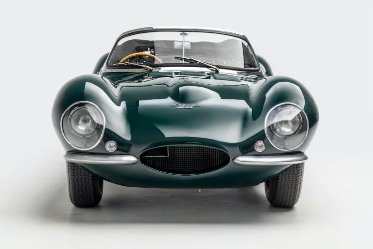 front of 1956 Jaguar XKSS