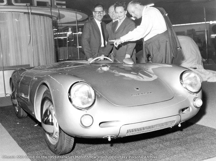 Porsche 550 Spyder at 1955 Frankfurt Motor Show