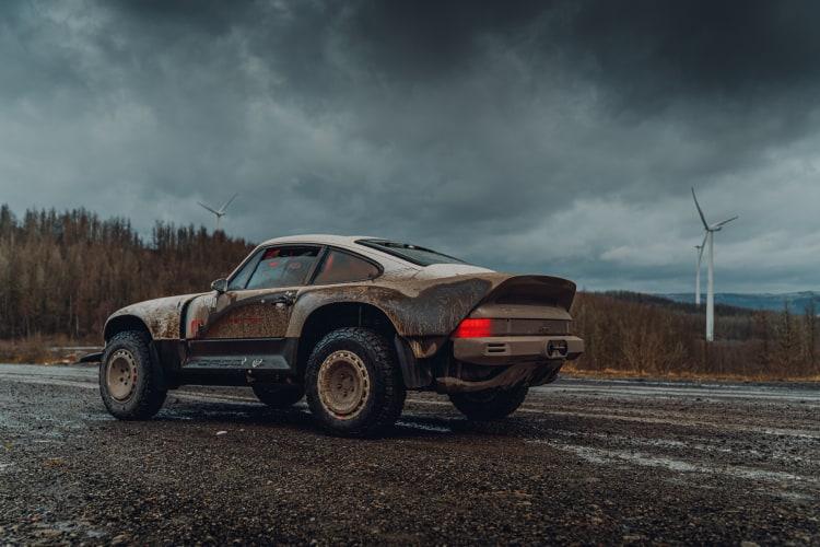 Porsche in dirt