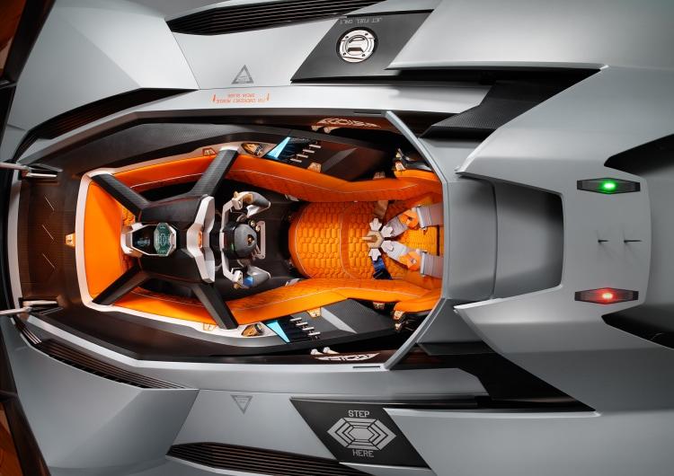 birds-eye view of vehicle