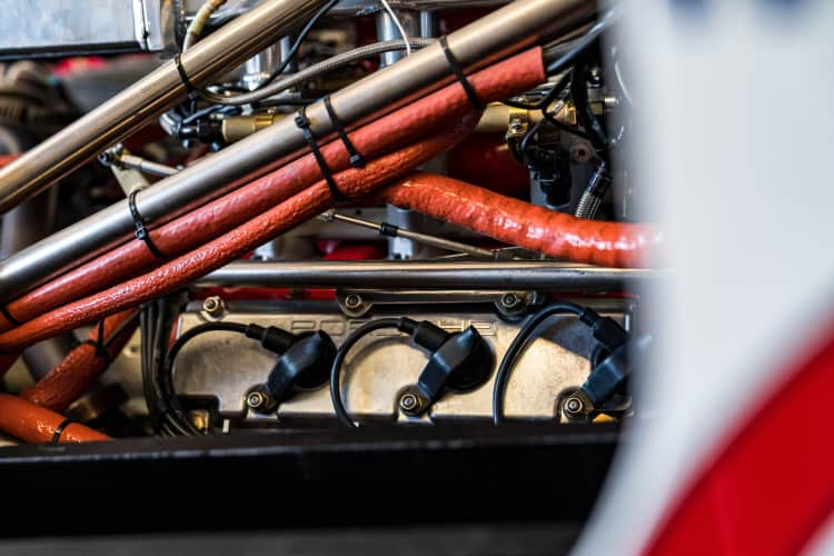 Engine in close up
