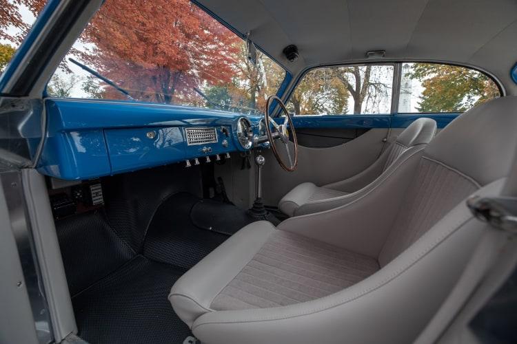 Interior of racing vehicle