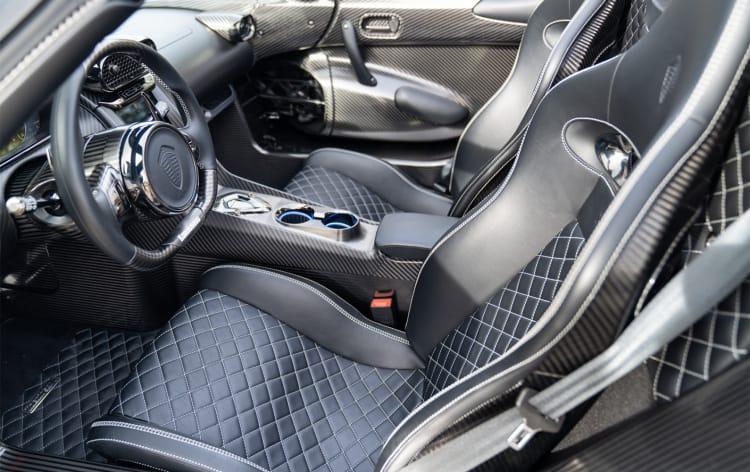 interior of Koenigsegg Regera