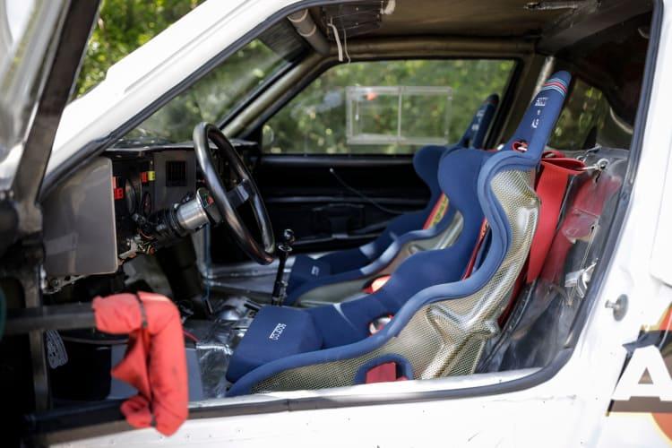 Interior of the Lancia Delta S4