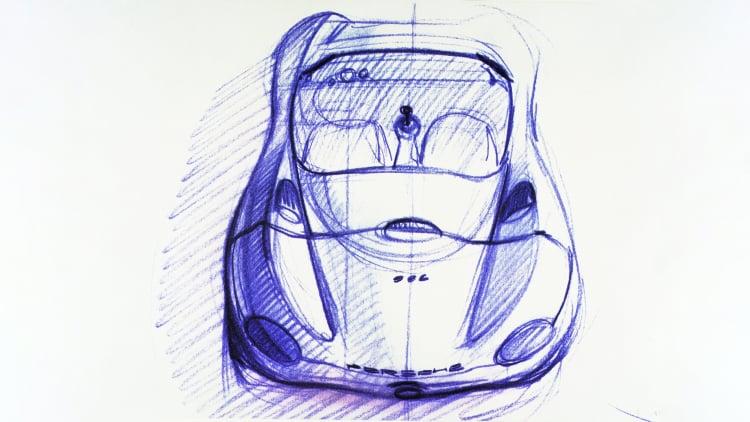 Porsche Boxster sketch