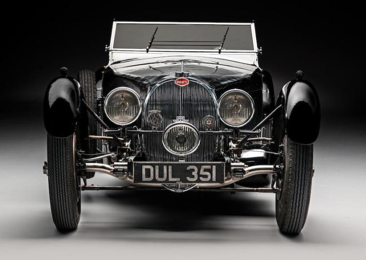 front of 1937 Bugatti Type 57
