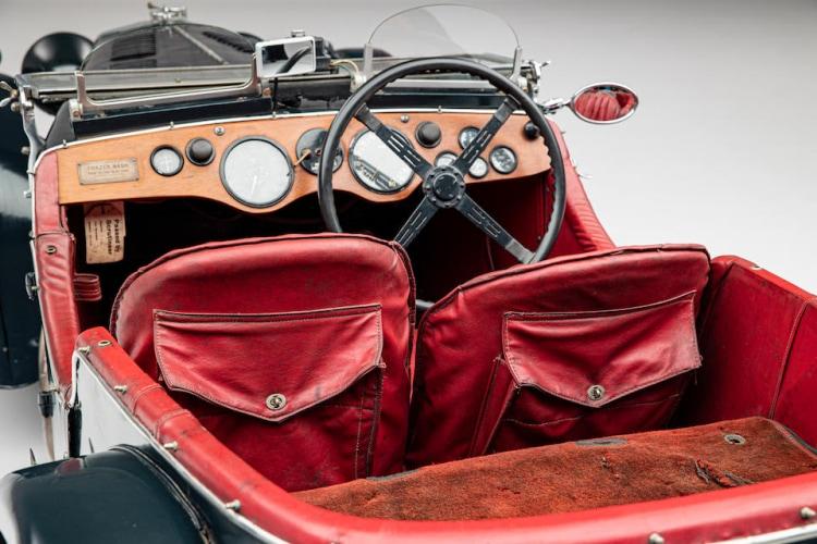 interior of 1934 Frazer Nash TT Replica