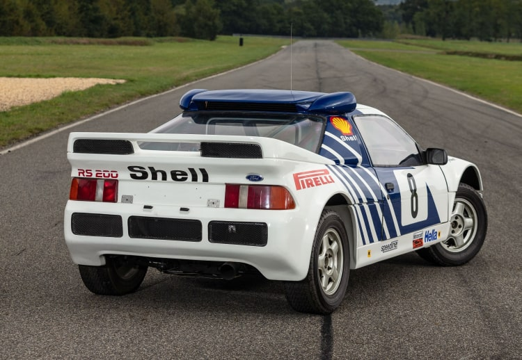 rear lights of 1986 Ford RS200 factory
