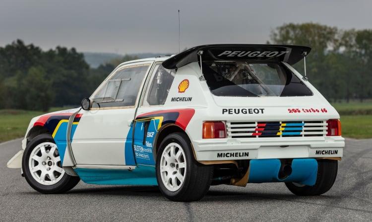 rear of 1985 Peugeot 205 Turbo 16 Evolution 2